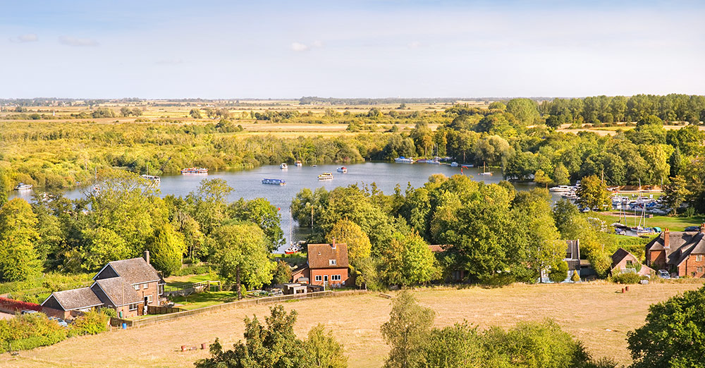 Ranworth Broad from the tower of St Mary's Church
